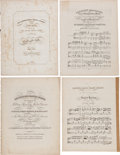 Political:Small Paper (pre-1896), William Henry Harrison: Four Pieces of Inauguration Sheet Music....(Total: 4 Items)