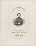 Political:Small Paper (pre-1896), Franklin Pierce: 1852 Campaign Sheet Music....
