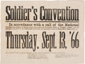 Political:Posters & Broadsides (1896-present), Andrew Johnson: 1866 Soldier's Convention Broadside....