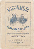 Political:Small Paper (pre-1896), Hayes & Wheeler: Jugate Campaign Songster....