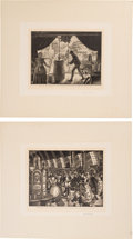 Antiques:Decorative Americana, Ernest Hamlin Baker: Fair Genre Prints.... (Total: 2 Items)