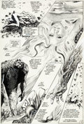 Original Comic Art:Panel Pages, Steve Bissette and John Totleben Saga of the Swamp Thing #29Page 12 Original Art (DC, 1984)....