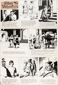 Hal Foster Prince Valiant Sunday Comic Strip #1573 Original Art dated 4-2-67 (King Features, 1967)