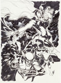 Original Comic Art:Covers, Adam Hughes Uncanny X-Men V3#600 Variant Cover Original Art(Marvel, 2016)....