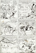 Original Comic Art:Panel Pages, Jack Kirby and Chic Stone Journey into Mystery #106 Page 10Original Art (Marvel, 1964)....