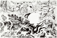"""Jack Kirby and Mike Royer Ariel, the Book of Fantasy V3 """"Musings"""" Illustration Original Art (Ballantine,1978)..."""