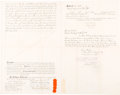 Autographs:U.S. Presidents, Theodore Roosevelt: Deeds Related to the Roosevelt Family Home.... (Total: 3 Items)