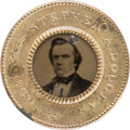 Political:Ferrotypes / Photo Badges (pre-1896), Stephen A. Douglas: Back-to-Back Ferrotype Badge....
