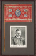 Political:Textile Display (1896-present), Theodore Roosevelt: Progressive Party Flag Framed Presentation....