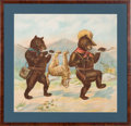 Political:Textile Display (1896-present), Theodore Roosevelt: Teddy Bear Hunting Trip Pillow Cover....