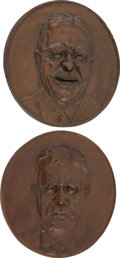 Political:3D & Other Display (1896-present), Theodore Roosevelt: Plaster Plaques.... (Total: 2 Items)
