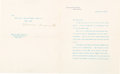 Autographs:U.S. Presidents, Theodore Roosevelt: 1906 Typed Letter Signed as President....