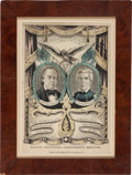 Political:Posters & Broadsides (pre-1896), Cass & Butler: Grand National Banner by Baillie....