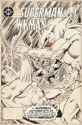 Original Comic Art:Covers, Murphy Anderson and Ed Hannigan DC Comics Presents #95Superman and Hawkman Cover Original Art (DC, 1986)....