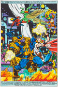 "Original Comic Art:Miscellaneous, Jim Starlin and Joe Rubinstein Marvel Two-In-One Annual #2""Death Watch!"" Page 35 Hand-Painted Color Guide (Marvel..."