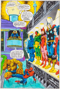 """Original Comic Art:Miscellaneous, Jim Starlin and Joe Rubinstein Marvel Two-In-One Annual #2""""Death Watch!"""" Page 23 Hand-Painted Color Guide (Marvel..."""