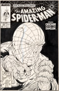 Original Comic Art:Covers, Todd McFarlane Amazing Spider-Man #307 Cover Original Art (Marvel, 1988)....