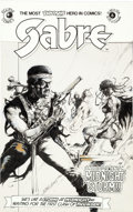 Original Comic Art:Covers, Kent Williams Sabre #6 Cover Original Art (Eclipse, 1983)....