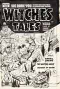 Original Comic Art:Covers, Al Avison (attributed) Witches Tales #9 Cover Original Art(Harvey, 1952)....