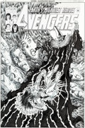 Original Comic Art:Covers, George Perez Avengers V3#30 Cover Original Art (Marvel,2000)....