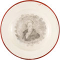 Political:3D & Other Display (pre-1896), Andrew Jackson: Toddy Plate or Saucer....