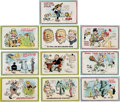 Political:Small Paper (1896-present), Theodore Roosevelt: Colorful Set of Postcards.... (Total: 9 Items)