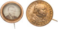 Political:Ferrotypes / Photo Badges (pre-1896), Ulysses S. Grant and Horace Greeley: Badges.... (Total: 2 Items)