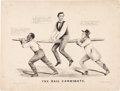 Political:Posters & Broadsides (pre-1896), Abraham Lincoln: Racist Currier & Ives Cartoon....