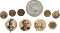 Political:Pinback Buttons (1896-present), William Jennings Bryan: Ten Campaign Items.... (Total: 10 Items)