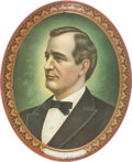 Political:3D & Other Display (1896-present), William Jennings Bryan: Lithographed Tin Beer Tray....