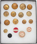 Political:Tokens & Medals, Grover Cleveland et al: 1884-1892 Clothing Buttons.... (Total: 17 Items)