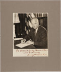 Autographs:U.S. Presidents, Dwight D. Eisenhower: Signed Presentation Photograph....