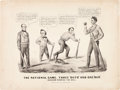 Political:Posters & Broadsides (pre-1896), Abraham Lincoln: Baseball Theme Currier & Ives Cartoon....