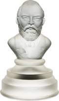 Political:3D & Other Display (pre-1896), James A. Garfield: Frosted Glass Bust....