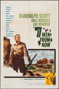 """Movie Posters:Western, Seven Men from Now & Other Lot (Warner Brothers, 1956). One Sheets (2) (27"""" X 41""""). Western.. ... (Total: 2 Items)"""