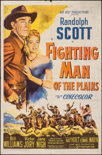 """Fighting Man of the Plains & Other Lot (20th Century Fox, 1949). One Sheets (2) (27"""" X 41""""). Western..."""
