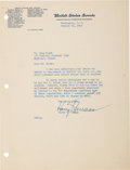 Autographs:U.S. Presidents, Harry S Truman: 1942 Typed Letter Signed....