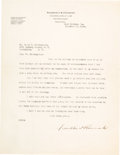 Autographs:U.S. Presidents, Franklin D. Roosevelt: 1928 Typed Letter Signed....