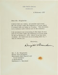 Autographs:U.S. Presidents, Dwight D. Eisenhower: 1957 Typed Letter Signed....