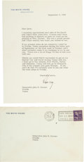 Autographs:U.S. Presidents, Harry S Truman: 1948 Typed Letter Signed to Cactus Jack....