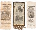 Political:Ribbons & Badges, William Henry Harrison: Three Ribbons.... (Total: 3 Items)