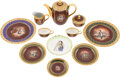 Antiques:Decorative Americana, Napoleon: Set of Commemorative Dishes....