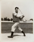 Baseball Collectibles:Photos, Circa 1937 Joe DiMaggio Signed Photograph....