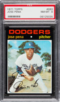 Baseball Cards:Singles (1970-Now), 1971 Topps Jose Pena #693 PSA NM-MT 8....