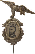 Political:Ferrotypes / Photo Badges (pre-1896), Ulysses S. Grant: Choice 1872 Ferrotype Badge....