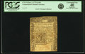 Colonial Notes:Connecticut, Colony of Connecticut January 2, 1775 2 Shillings 6 Pence Fr.CT-174. PCGS Extremely Fine 40 Apparent. . ...