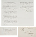 Political:Small Paper (pre-1896), Abraham Lincoln: Invitation to the First White House Dinner Dance....