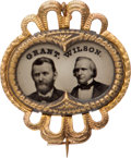 Political:Ferrotypes / Photo Badges (pre-1896), Grant & Wilson: Unlisted Pristine Ferrotype Jugate....
