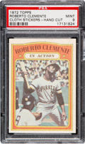 "Baseball Cards:Singles (1970-Now), 1972 Topps Test ""Cloth Stickers"" Roberto Clemente PSA Mint 9 - Only One Higher. ..."