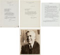 Autographs:Statesmen, Henry A. Wallace: Archive of Signed Letters and Photo....